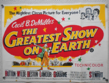 Greatest Show on Earth, UK Quad Poster, Charlton Heston, Betty Hutton, r60s